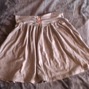 Cute gray skirt with button size S